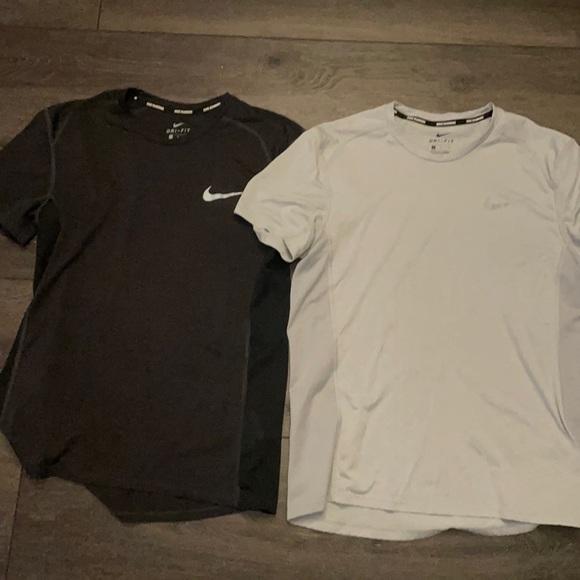 (2) Men's Nike running T-shirts